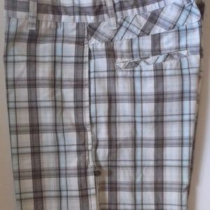 NWOT Micros Plaid Casual Shorts